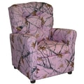 Brazil Furniture Children's Recliner; Pink Snow Camo