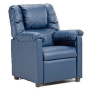 Brazil Furniture Lounger Children's Recliner; Vinyl Blue