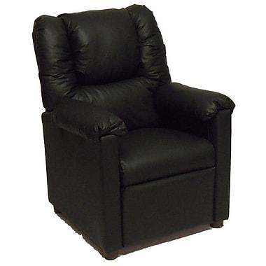 Brazil Furniture Lounger Children's Recliner; Vinyl Black