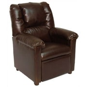 Brazil Furniture Lounger Children's Recliner; Vinyl Brown (Leather Look)