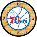 Wincraft NBA 12.75'' Wall Clock; Philadelphia 76ers