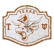 Wincraft NCAA Texas University High Def Plaque Wall Clock