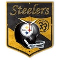 Wincraft NFL High Def Plaque Wall Clock; Pittsburgh Steelers
