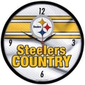 Wincraft NFL 12.75'' Wall Clock; Pittsburgh Steelers - Country