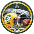 Wincraft NFL 18'' High Def Wall Clock; Green Bay Packers - Super Bowl XLV