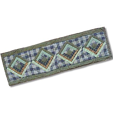 Patch Magic Green Log Cabin Table Runner; 54'' W x 16'' L