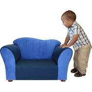 Fantasy Furniture Kid's Wave Microsuede Chair; Navy / Blue