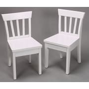 Gift Mark Ladderback Kid's Chair (Set of 2); White