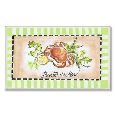 Stupell Industries Fruits de Mer Lobster and Crab Painting Print Wall Plaque