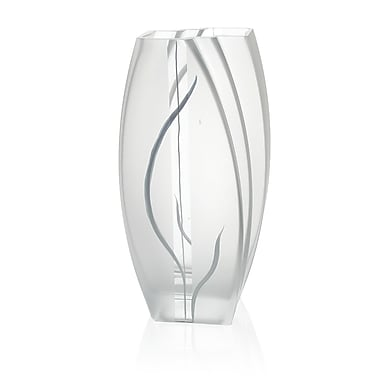 Womar Glass Hand Painted Glass Wind and Grass Series Vase