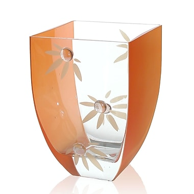 Womar Glass Love Me Not Vase; 8.5'' H x 6'' W x 6'' D