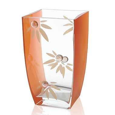 Womar Glass Love Me Not Vase; 9.5'' H x 5.5'' W x 5.5'' D
