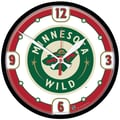 Wincraft NHL 12.75'' Wall Clock; Minnesota Wild 1
