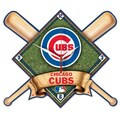Wincraft MLB High Def Plaque Wall Clock; Chicago Cubs