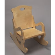 Gift Mark Single Seat Puzzle Kids Rocking Chair; Natural