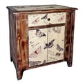 Cheungs Wooden Butterfly 1 Drawer Cabinet