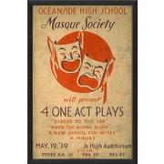 The Artwork Factory Oceanside High School Mask Society Framed Vintage Advertisement