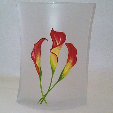 Womar Glass Calla Lily Decorative Vase