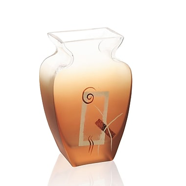 Womar Glass Geometric Glow Vase; 7.5'' H x 4.75'' W x 2.5'' D