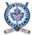 Wincraft NHL Plaque Wall Clock; Toronto Maple Leafs
