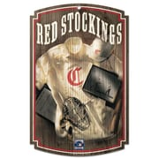 Wincraft MLB Graphic Art Plaque; Cincinnati Reds Stockings