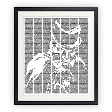 Postertext The Strange Case of Dr Jekyll and Mr Hyde Framed Graphic Art