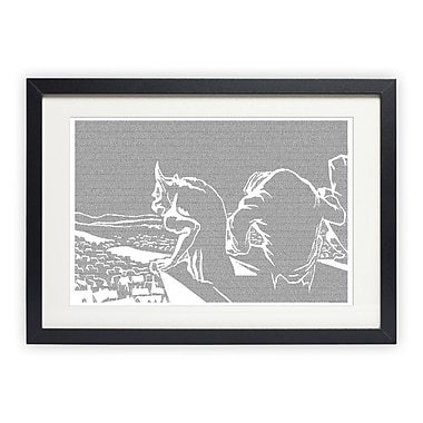Postertext The Hunchback of Notre Dame Framed Graphic Art