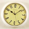 Ashton Sutton Retrospective 10'' Wall Clock; White