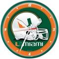 Wincraft Collegiate 12.75'' NCAA Wall Clock; Miami
