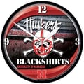Wincraft Collegiate 12.75'' NCAA Wall Clock; Nebraska - Blackshirts