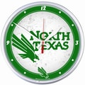 Wincraft Collegiate 12.75'' NCAA Wall Clock; North Texas