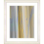 Studio Works Modern ''Yellow Flow'' by Zhee Singer Framed Fine Art Giclee Painting Print; White