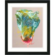 Studio Works Modern ''Green Flower Bud'' by Zhee Singer Framed Graphic Art in Blue; Black