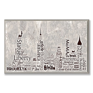 Stupell Industries NYC City Skyline Textual Art Wall Plaque