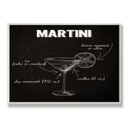 Stupell Industries Classic Martini Chalkboard-Look Wall Plaque