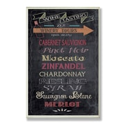 Stupell Industries Wine Tasting Chalkboard Look Typography Wall Plaque