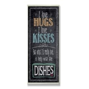 Stupell Industries I Love Help with the Dishes Typography Kitchen Wall Plaque
