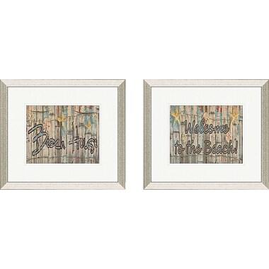 PTM Images Coastal Beach House 2 Piece Framed Textual Art Set