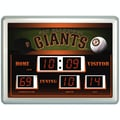 Team Sports America MLB Scoreboard Thermometer Wall Clock; San Francisco Giants
