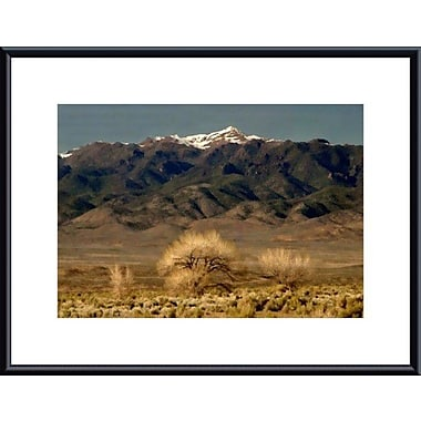 Printfinders High Desert Landscape by John K. Nakata Framed Photographic Print; Black