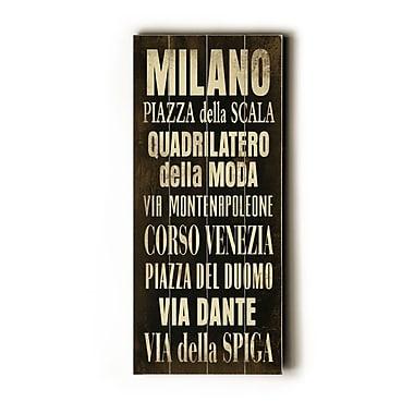 Artehouse LLC Milano Transit by Cory Steffen Textual Art Plaque