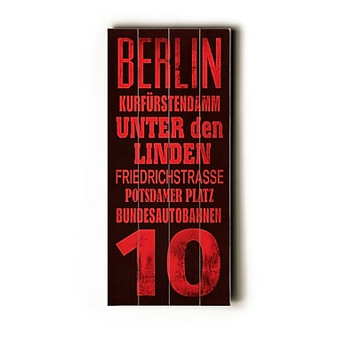 Artehouse LLC Berlin Transit by Cory Steffen Textual Art Plaque