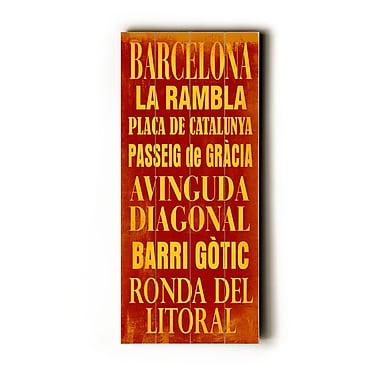 Artehouse LLC Barcelona Transit by Cory Steffen Textual Art Plaque