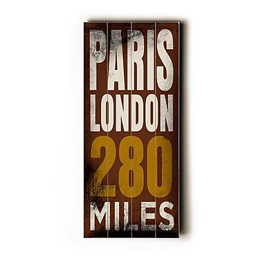 Artehouse LLC Paris London Transit by Cory Steffen Textual Art Plaque