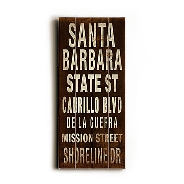 Artehouse LLC Santa Barbara Transit by Cory Steffen Textual Art Plaque