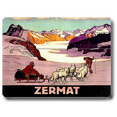 Artehouse LLC Zermat Vintage Advertisement Plaque