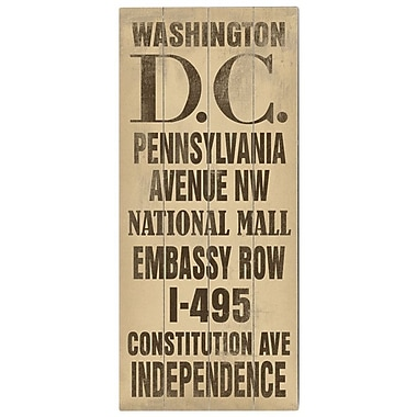 Artehouse LLC Washington DC Transit by Cory Steffen Textual Art Plaque