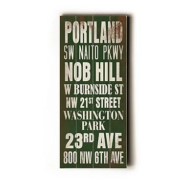 Artehouse LLC Portland Transit by Cory Steffen Textual Art Plaque