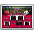 Team Sports America MLB Scoreboard Thermometer Wall Clock; St. Louis Cardinals