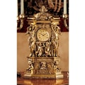 Design Toscano Chateau Chambord Clock in Antique Faux Gold